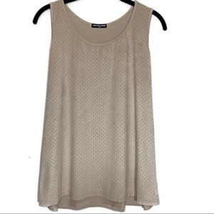 Cha Cha Vente Faux Suede Taupe Tank